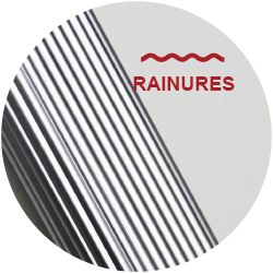 surface rainurée barnum 2x3 40mm aluminium GREADEN