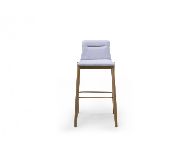 TOWER, Tabouret de bar, Tissu Kvadrat, Gris